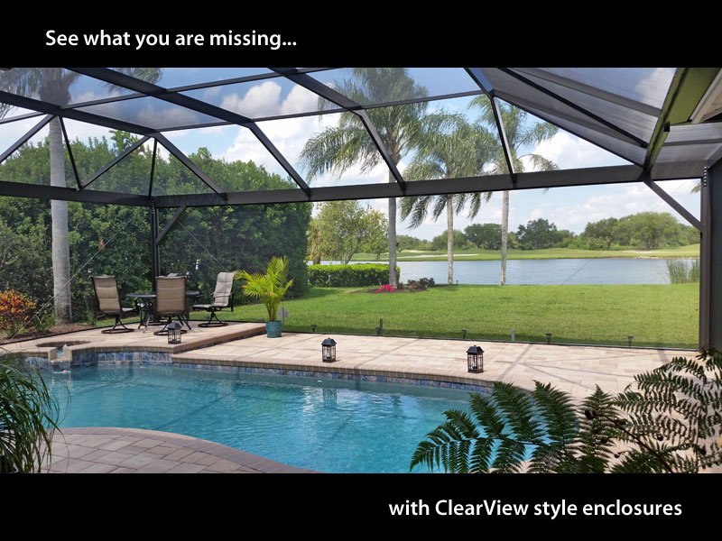 clear view pool cage