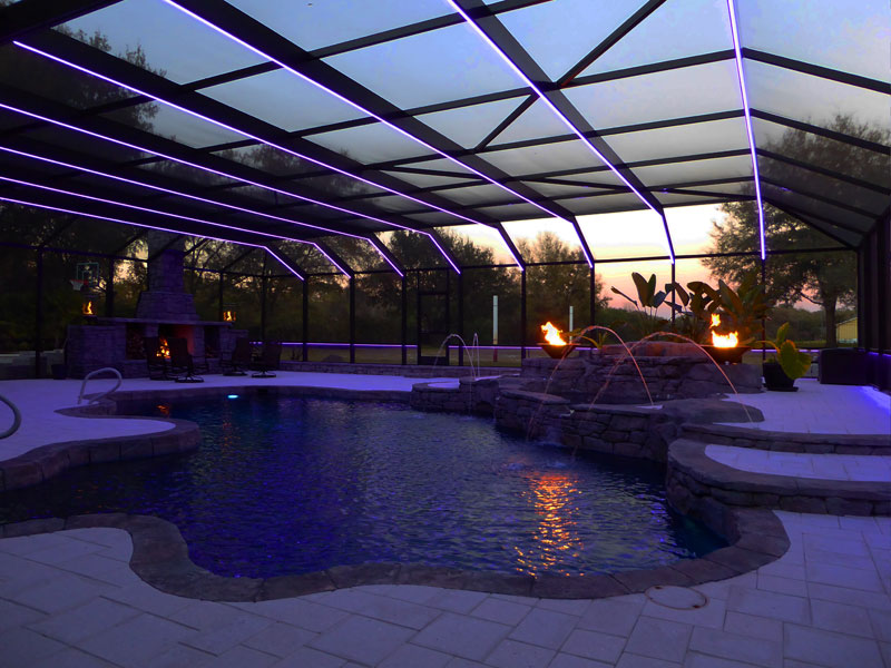 pool cage lighting