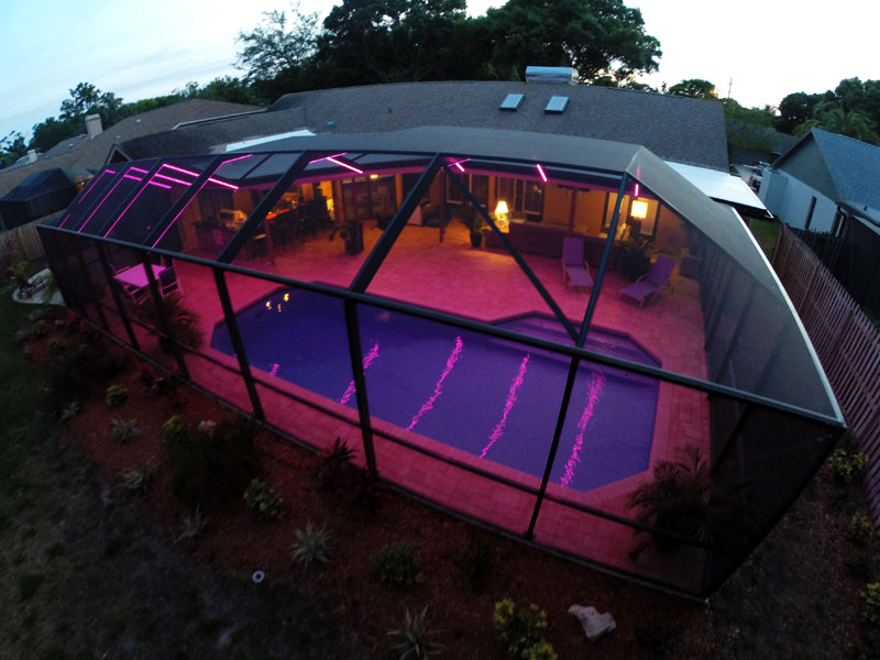 pool cage led lighting