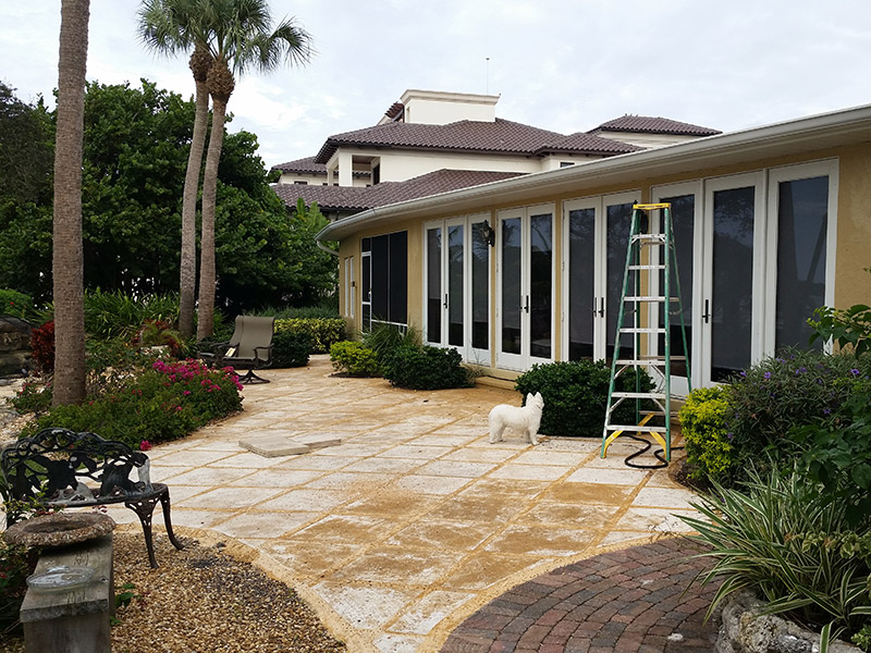 Lanai Extended Before Commercial Residential Aluminum