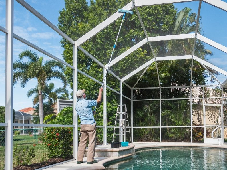 Pool Screen Enclosure Cleaning Tips